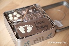 New Baby Chocolate Gift Box from Sent with a Loving Kiss