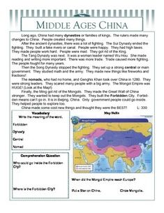 This set of worksheets summarizes the middle ages in India, China, and Japan at two levels (350-400L and 450-550L). Includes questions about...