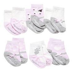 Socks. Cutie Pinks. 6Pk