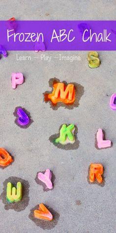 Frozen Alphabet Chalk Paint - Learn Play Imagine