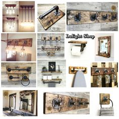 RUSTIC DISTRESSED Towel Ring Towel Holder Hand Towel Ring | Etsy Farmhouse Mirrors, Rustic Mirrors, Wood Framed Mirror, Rustic Bathroom Decor, Small Mirrors, Rustic Bathrooms, Farmhouse Decor, Industrial Farmhouse, Farmhouse Lighting