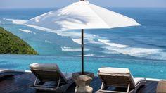Cliff villa pool view