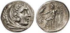 AR Tetradrachm, posthumous. Greek Coins, Italy, Kingdom of Makedonia, Alexander III. the Great, king 336-323 BC, Amphipolis mint.  315-294 BC. 17,36g. Price 134,447. EF. Price realized 2011: 600 USD.