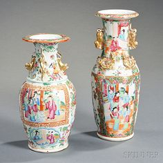 Two Chinese Export Porcelain Rose Medallion Vases | Sale Number 2786B, Lot Number 279 | Skinner Auctioneers