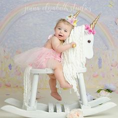 "Rainbows and unicorns, what a lovely sight ✨ Beautiful photo featuring our Belle Fleur tutu sparkle romper PC: @jennaelizabethstudios Use code ""magical"" for 20% off our characters & themes collection!"