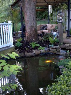 Beautiful Pond in backyard. #Pondliner #pondliners #EPDMPondliner http://www.pondpro2000.com/