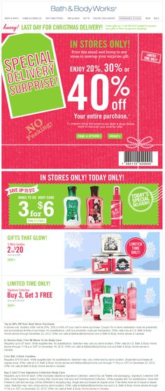 random 20 40 off everything at bath body works coupon via the coupons