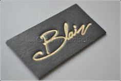 black genuine leather label,6*3cm, 1 mm thick,gold logo, debossed,