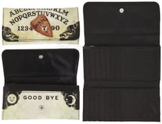 NEW Ouija Board Mystifying Oracle Planchette YES NO Trifold Flap Clutch WALLET  #Trifold