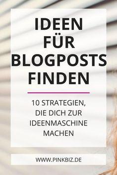 Wie gehen dir niemals die Themen zum Bloggen aus? Lese, mit welchen 10 Strategien du zur Ideenmaschine wirst und mehr Blogartikel Ideen entwickelst, als du jemals verbloggen könntest.