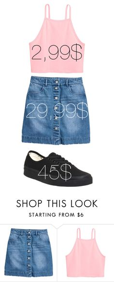 """#325"" by blackwidow3 on Polyvore featuring moda, Vans, under50 i skirtunder50"