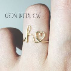 Custom Initial ring sterling silver letter ring/gold fill initial ring/stack rings/name ring/personalized bridesmaid gift/wedding jewelry Initial Earrings, Initial Bracelet, Sapphire Earrings, Crystal Earrings, Sterling Silver Rings, Gold Rings, Tiny Stud Earrings, Friendship Gifts, Friendship Jewelry