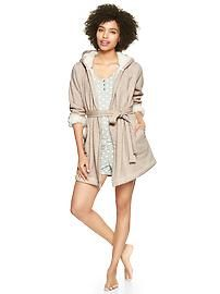 Cozy sherpa-lined robe