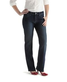 Curvy Elena Straight Leg Jean - need to check these out the next time I'm shopping for jeans. Lee Jeans, Denim Leggings, Style Icons, Curvy Women, Legs, My Style, Slim, Fabric, Pants