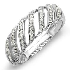 0.30 Carat (ctw) Sterling Silver Round Diamond Ladies Cocktail Band Ring DazzlingRock Collection. $59.00. Crafted in 925 Sterling-Silver. Weighs approxiately 2.24 grams. Diamond Weight : 0.30 ct tw.. Diamond Color / Clarity : I-J / I2-I3. Gemstone : Diamond