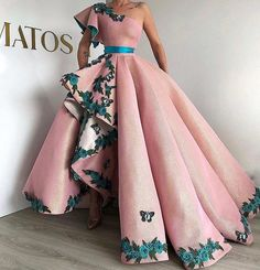 Eightree Arabic Shinning Ball Gown Pink Evening Gowns Long Party Dress Lace up Sexy One Shoulder prom Dresses robe de Soiree Ball Dresses, Ball Gowns, Evening Dresses, Prom Dresses, Formal Dresses, Formal Evening Gowns, Long Dresses, Elegant Dresses, Pretty Dresses