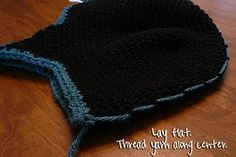 How to make a mohawk crochet hat. Tutorial.