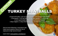 Travel Channel's American Grilled Host Chef David Guas' famous Turkey meatball recipe. Find a salty taste in ingredients such as Parmesan Reggiano, rather than adding salt to your recipe. There are different variations of meatballs that can be adapted for everyone's palates
