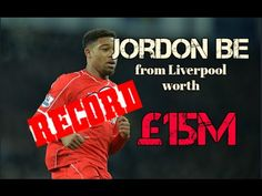 Bournemouth sign winger Jordon Ibe from Liverpool in club record deal wo. Transfer News, Bournemouth, Football Players, Liverpool, Sign, Club, Youtube, Soccer Players
