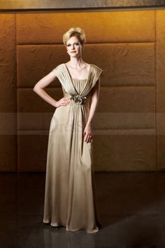 63e13a3b5ca Elegant Mother of the Bride Dress with Ruches