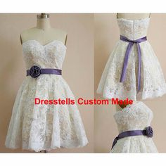 short Lace bridesmaid dress Lace