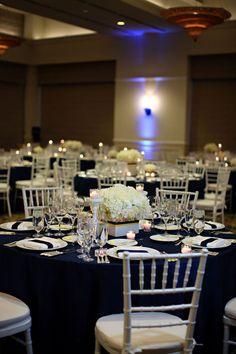 Decoracion de boda azul y blanca. #DecoracionBoda