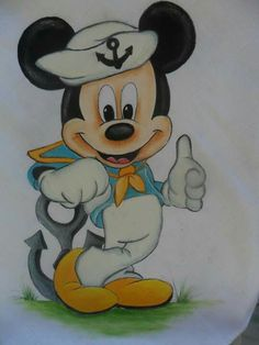Boneco  fraldss Mickey Mouse, Disney Mickey, Baby Coloring Pages, Coloring Books, Vintage Pictures, Colorful Pictures, Butterflies Flying, Arte Disney, Mickey And Friends