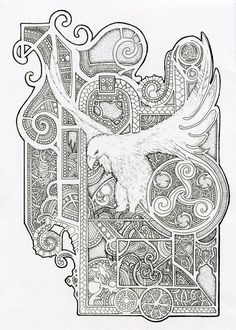 Bird design - Inspired by Book Of Kells by Scream-stay-night on @DeviantArt