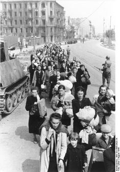 Civilians on a way to Gulag 121 camp in Pruszków.Warsaw Uprising, August 1944