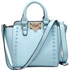 Pure Color Rivet Shoulder Bag ($37) ❤ liked on Polyvore