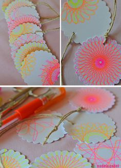 Spirograph gift tags...
