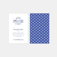 Emi et Lou business card  Branding, graphic design
