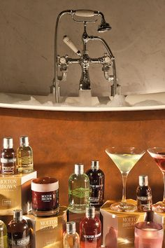 Molton Brown and The Goring's world scents bath menu