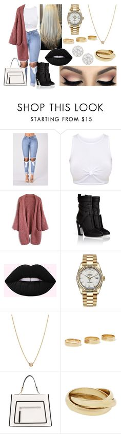 """""""Untitled #237"""" by xoxojay1 on Polyvore featuring Chicwish, Fendi, Rolex, Zoë Chicco, Loren Stewart and Frederic Sage"""