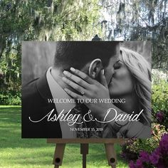 Photo Wedding Sign Printable Welcome Personalized Wedding Sign Wedding Sign Wedding Welcome Sign Custom Sign Wedding Ceremony Sign Wedding Ceremony Signs, Wedding Ceremony Decorations, Wedding Pics, Dream Wedding, Wedding Day, Save The Date Pictures, Welcome To Our Wedding, Wedding Bridesmaids, Personalized Wedding