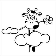 Jirafa flor - black and white - Chalk Art Doodle Drawings, Animal Drawings, Doodle Art, Easy Drawings, Tier Doodles, Giraffe Drawing, Animal Doodles, Simple Doodles, Rock Crafts