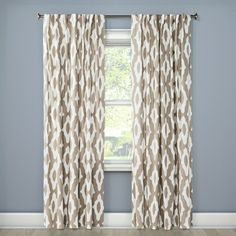 Summer Fret Curtain Panel Project 62 Panel Curtains Beige