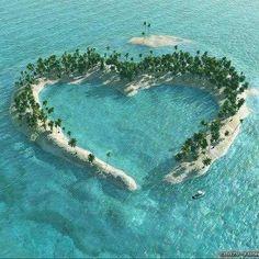 Heart Island in mangrove-delta of the Vaza-Barris River, Brazil