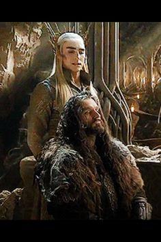 Two kings: Thorin and Thranduil