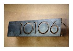Modern House Numbers - Offset 5 Numbers. $125.00, via Etsy.