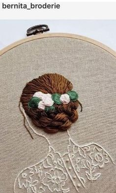 Flowing Hair Beneath The Stars - Hand Embroidery, Hoop Art, Contemporary Embroidered Hoop Wall Art, Modern Embroidery Hand Embroidery Videos, Embroidery Materials, Hand Embroidery Stitches, Modern Embroidery, Crewel Embroidery, Embroidery Hoop Art, Hand Embroidery Designs, Ribbon Embroidery, Cross Stitch Embroidery