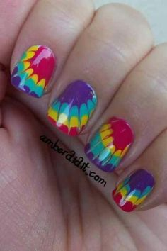 Tie dye for nails