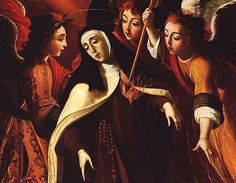St Teresa of Avila, by Josefa de Óbidos. Saint of the love wound, opposition to church authorities, sickness, & more. .