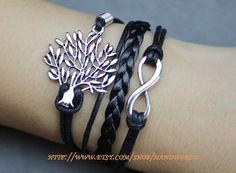 beautiful wishing tree bracelet infinity karma by handworld, $5.59