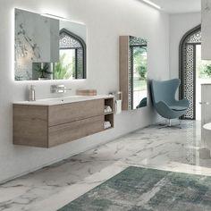 Doppel-Waschtischunterschrank / modern / aus Eiche / aus Edelstahl YUMI Arlexitalia