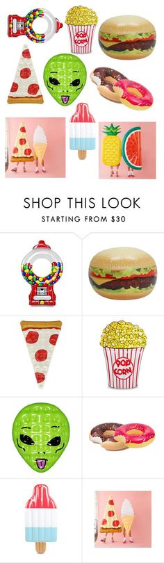 """Awesome pool floats !!!"" by feel-love-wear ❤ liked on Polyvore featuring Big Mouth and RIPNDIP"