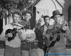 Bluegrass music - Salem, Missouri - The Dillards A. The Darlings on the Andy Griffith Show Old Tv Shows, Best Tv Shows, Rock And Roll, The Dillards, Barney Fife, Don Knotts, Musical Composition, The Andy Griffith Show, Mountain Music