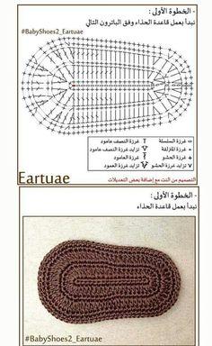 Plantilla de zapatos a crochet 1