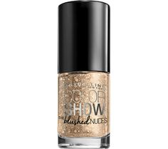 Color Show Blushed Nudes Nail Lacquer, Nail Polish by Maybelline. No chip nude nail lacquer with a rush of rose gold pigments for a blushing glow.