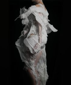 """Series: """"Shimmering"""" • Year: 2015 • Photographer: Bart Hess • Description: """"'Shimmering' in the exhibition landscape is a network of geometric reflective pools of molten wax."""" — """"Bart Hess' Incredible Wax Sculptures Resemble Floating Fabric"""", SORN Magazine (Retrieved: 25 June, 2015)"""
